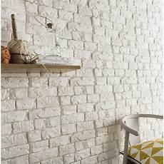 imitation brique blanche plaquette de parement pl 226 tre blanc harlem leroy merlin