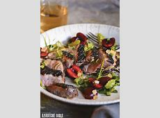 grilled duck breast with chipotle ranch dressing_image