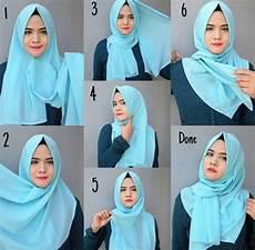 Tutorial Pashmina Untuk Wajah Lebar Jilbab