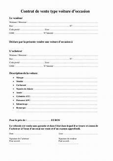 Certificat De Vente De Voiture D Occasion Entre