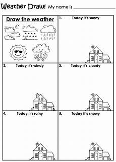 weather activity worksheets for kindergarten 14490 draw the weather worksheet teaching