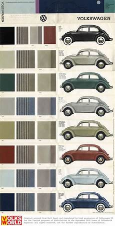 colour chart vw beetles and beetle on pinterest