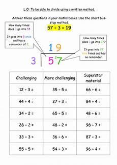 ks2 maths division worksheets ks2 division written method bus stop method by jodieclayton teaching resources