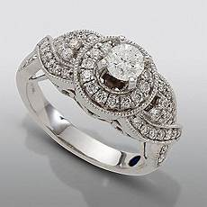 david tutera 1 cttw certified diamond engagement ring