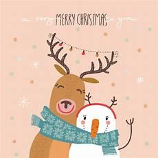 happy hug christmas card free greetings island