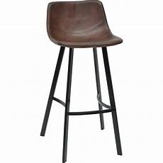 Tabouret De Bar En Simili Marron H73 5cm Joseph