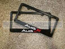 audi sport audi license plate frame rs3 ttrs r8 a4 s4 tt s5 q5 2 color pair ebay