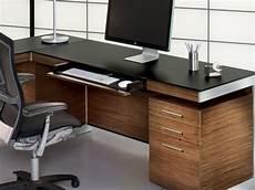 bdi sequel 60 24 rectangular natural walnut computer desk with back panel bdi6001wl