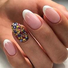 french nail design with rhinestones elegantnaildesigns