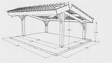 dimension garage 2 places mod 233 lisation projet carport bois 2 voitures avec