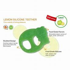 simba food grade silicone teether lime fragrance just4bb com