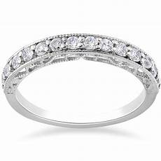 1 2ct vintage diamond wedding ring 14k white gold ebay