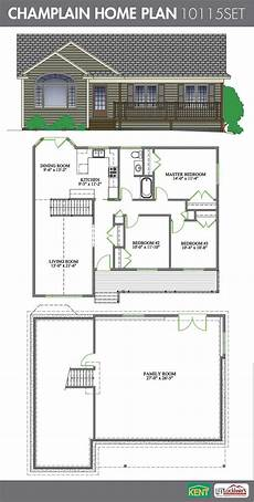 open concept bungalow house plans canada chlain 3 bedroom 1 bathroom home plan features large