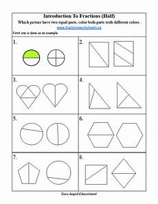 fraction worksheets half 3953 2nd grade math basic fractions worksheets on half steemit