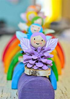 Pine Cone Rainbow Crafts