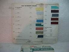 1957 plymouth vintage original dupont paint color chip chart ebay