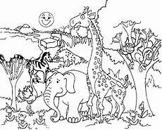 coloring pages animals in the forest 17029 forest habitat drawing at getdrawings free