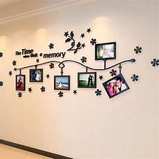 Photo Frame And Flower Design Acrylic 3d Wall Stickers Diy