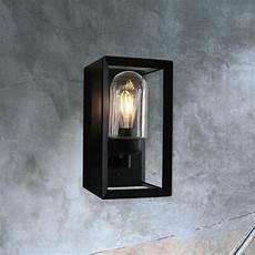 modern black outdoor wall light cl 36280 e2 contract lighting uk
