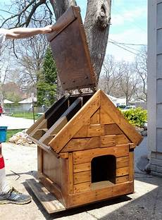 lovely dog house plans with hinged roof new home plans design