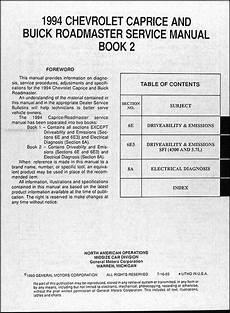 book repair manual 1994 chevrolet cavalier regenerative braking 1994 chevy caprice impala ss buick roadmaster repair shop manual original set