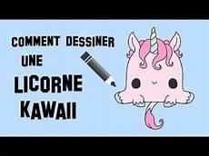 comment dessiner une comment dessiner une licorne kawaii pinteres