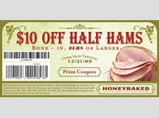 $10 off honeybaked ham