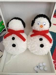 tutoriel diy fabriquer des bonhommes de neige en pompons