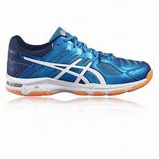Kasut Badminton Asics Gel asics gel beyond 5 mens white blue indoor court badminton