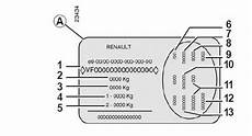 Renault Sc 233 Nic Plaques D Identification V 233 Hicule