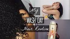 my wash day hair routine natural curly hair 3b 3c 4a hair type youtube