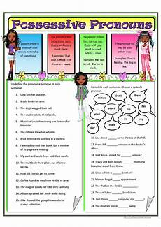 possessive pronouns 2 worksheet free esl printable worksheets made by teachers
