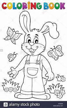 malvorlagen ostern kaninchen thema 6 stockfoto bild