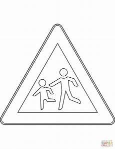 ausmalbild verkehrszeichen in deutschland kinder