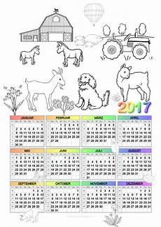 Kinder Malvorlagen Kalender Ausmalen Jahreskalender Monatskalender 2017