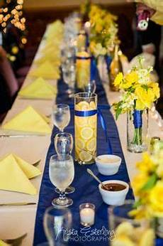 wedding decorations for tables in light blue and yellow google search weddings yellow
