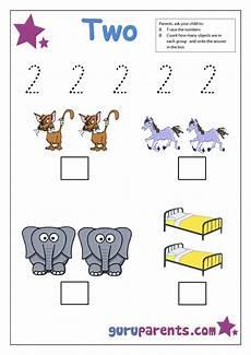 number 2 worksheets guruparents