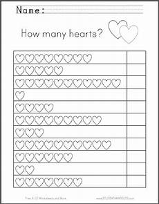 free s day worksheets for kindergarten 20457 hearts counting worksheet great for s day free to print pdf grades k 1