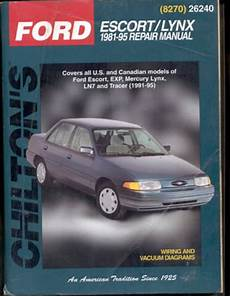 chilton car manuals free download 1991 mercury tracer navigation system chilton s ford escort lynx 1981 95 repair manual