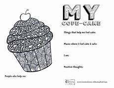 my cope cake free printable from omazing kids group activities coping skills activities