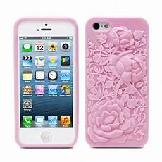 apple iphone se 5s 5 pink 3d sculpture silicone soft