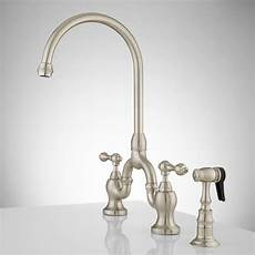 Bridge Kitchen Faucet With Side Spray Ponticello Bridge Kitchen Faucet With Side Spray Lever
