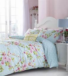 pink floral sheets duck egg pink blue floral or spots reversible girls bedding or curtains ebay