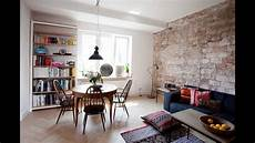 Living Room With Brick Wall Tiles