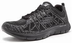 skechers flex appeal 3 0 go memory foam trainers in grey