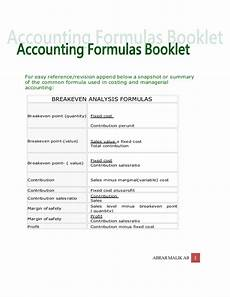 accounting formulas chart of accounts dr cr rule