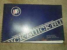 service and repair manuals 1990 buick electra lane departure warning 1990 buick le sabre electra park avenue electrical systems manual ebay