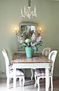 Farm Table And Chairs Pretty Wall Color Shabby Chic
