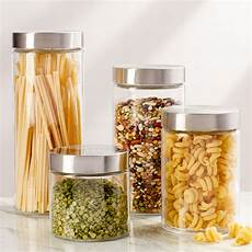 Kitchen Counter Gifts by Basics 4 Top Glass Kitchen Canister Set