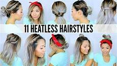 11 easy heatless hairstyles for short hair 5 mins back to school youtube